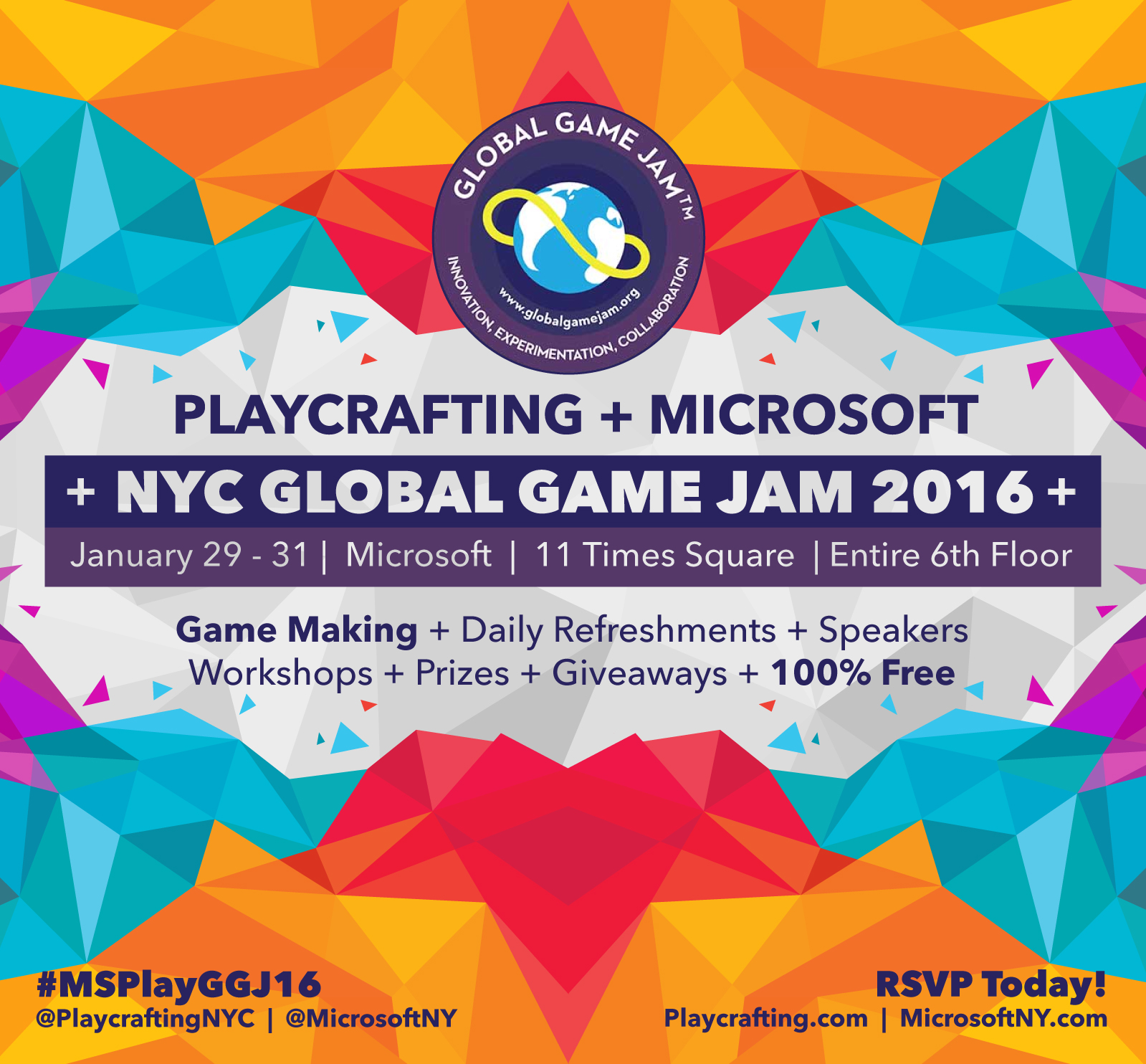 Global game jam prizes for students